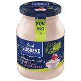 Joghurt Pur Bio Himbeere-Granatapfel 3,8% Glas