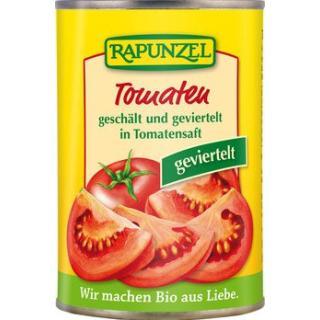 Tomaten geschält & geviertelt (400g)