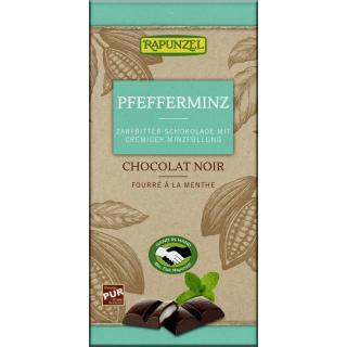 Zartbitter Schokolade mit Pfefferminzfüllung HIH