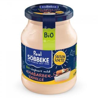 Frühlingsjoghurt Rhabarber - Vanille 3,8% im Glas