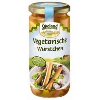 Vegetarische Würstchen im Glas