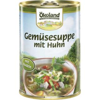 Gemüsesuppe mit Huhn Dose