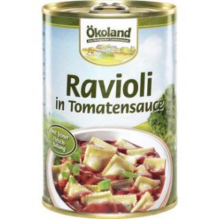 Ravioli in Tomatensauce Dose