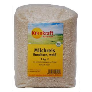 Milchreis Rundkorn weiß, 1kg