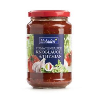 Tomatensauce Knoblauch Thymian