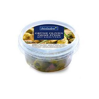 Grüne Oliven o. Stein mit Kräutern (biol)