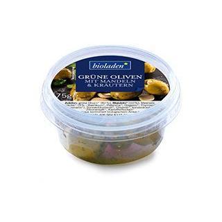 Grüne Oliven mit Mandeln & Kräutern (biol)