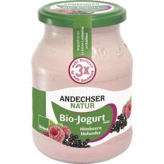 Himbeer - Holunder Joghurt  3,7% im Glas