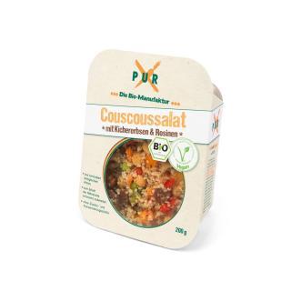 Couscous Salat mit Kichererbsen und Rosinen