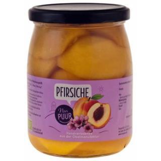 Pfirsiche halbe Frucht im Glas
