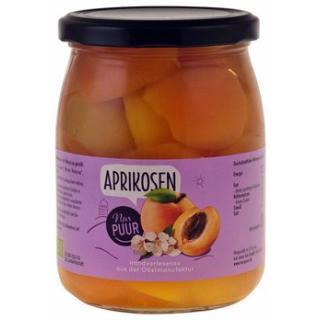 Aprikosen halbe Frucht im Glas