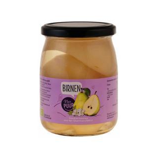 Birnen halbe Frucht im Glas