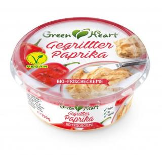 Frischcreme Gegrillte Paprika, Mandelbasis - vegan