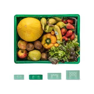 Smoothie-Kiste bunt