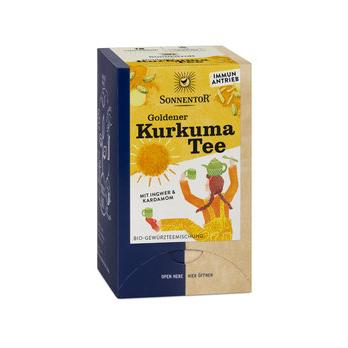 Goldener Kurkuma Tee im Beutel